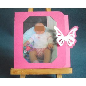 FAIRE PART PHOTO MAGNETIQUE ET PAPILLON