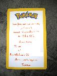 INVITATION ANNIVERSAIRE POKEMON