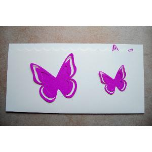 FAIRE PART PAPILLONS EN RELIEF